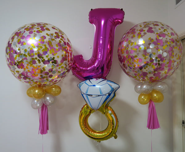 wedding engagement balloon arrangements