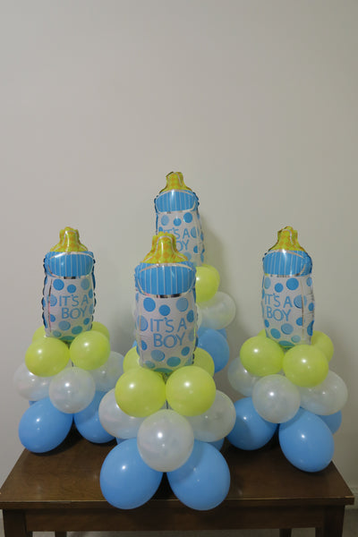 4 x Baby boy center piece