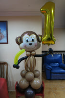 1st birthday monkey sculpture