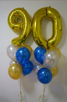 90th birthday helium bouquet