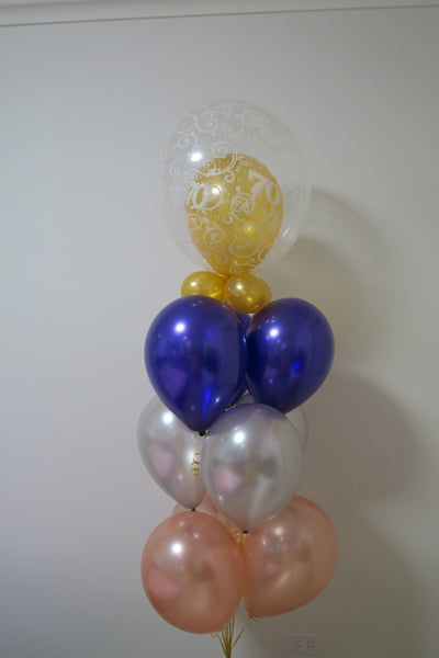 70th birthday helium balloon  bouquet