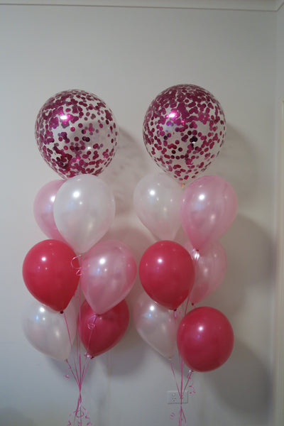 2 set of 45cm confetti helium balloon Floor Bouquet