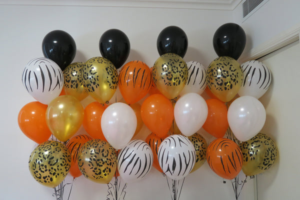 40 animal printed helium balloon  bouquet