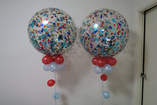2 of 3ft confetti balloon aarrangement