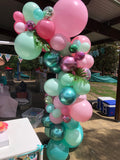 "Organic Balloon Arch  "" Emilie Turns One "" Flamingo get tango"