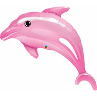 Under sea Pink Dolphin Foil Shape Balloon Bouquet