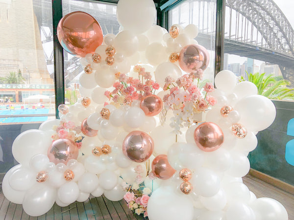 "Organic Balloon Garland Backdrop "" Brenda Suprise Birthday party """