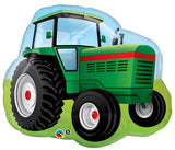 Farm Tractor foil shape and 9 Balloon Bouquet