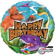 Dinosaurs foil  and 9 balloon bouquet