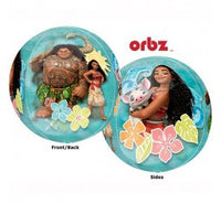 Moana Orbz foil shape and 9 helium balloon bouquet