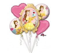 Princess Bell foil shape  helium bouquet
