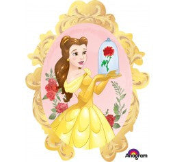 Princess BELLE Mirror Shape  and 9 Balloon bouquet