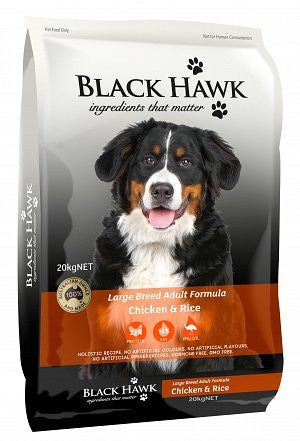 Black Hawk-Dog-Adult Large Breed (Chicken and Rice)