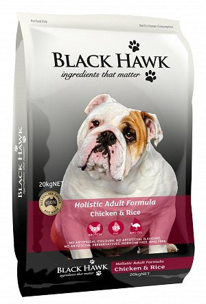 Black Hawk-Dog-Adult Holistic (Chicken and Rice)