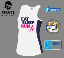Stylish Eat Sleep Run Ladies Running Vest