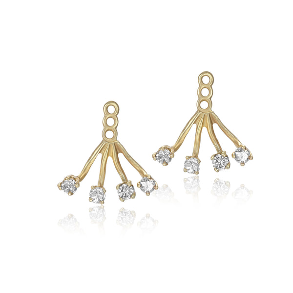 sparkling ear jacket earrings