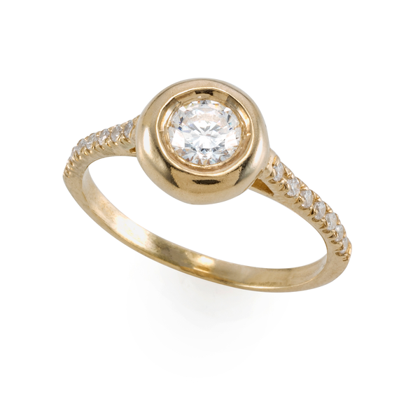 Golden Bubble Ring