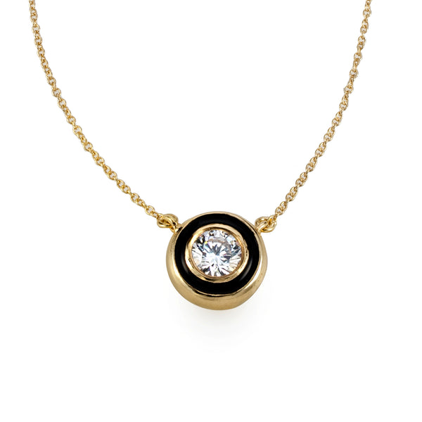 Big black Mystic halo Bubble Necklace