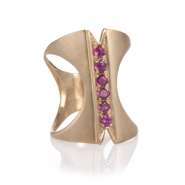 Ruby two-way Corset Ring