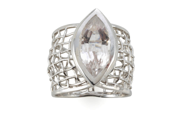 Crystal eye woven Ring