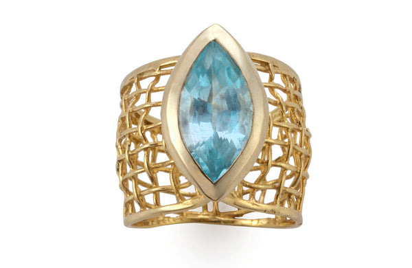 Blue Eye Woven Ring