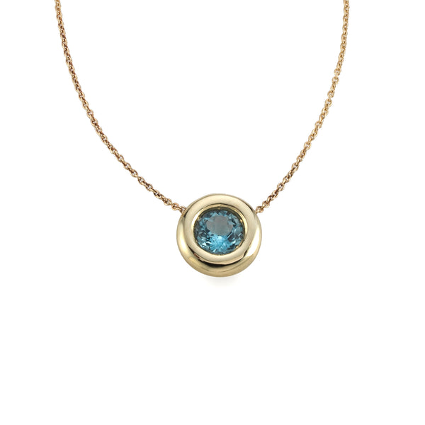 Big Golden sky Bubble Necklace