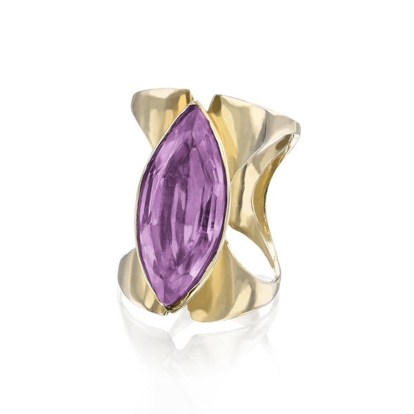 Amethyst two way corset ring