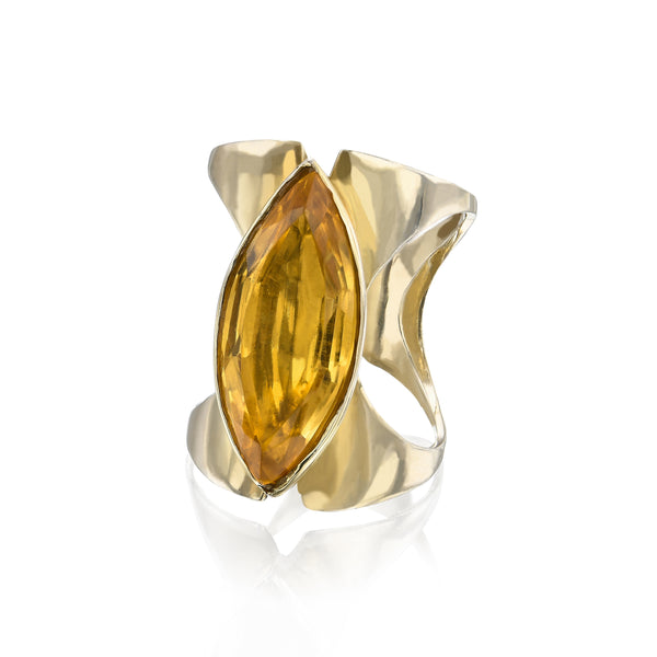 Citrine two way corset ring