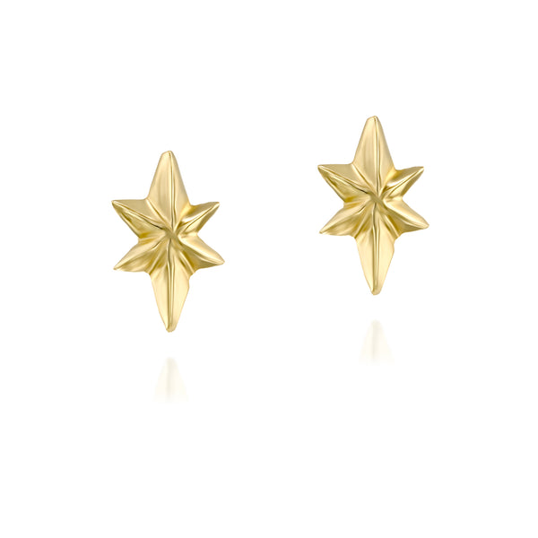 Empyrean gold stars stud earrings