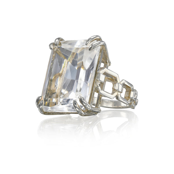 Grand Rock Crystal link ring
