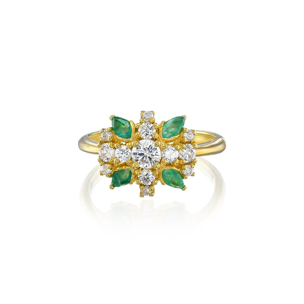 Nitsan diamond cluster ring