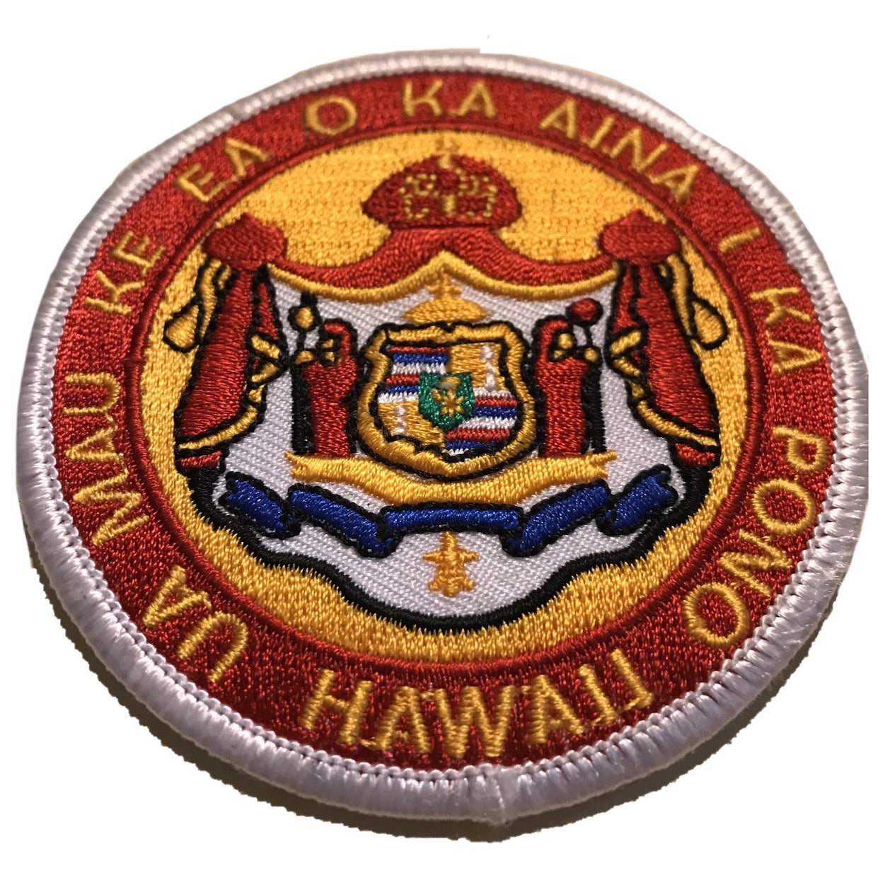 Hibred Hawaiian Coat of Arms Embroidered Iron-On Patch