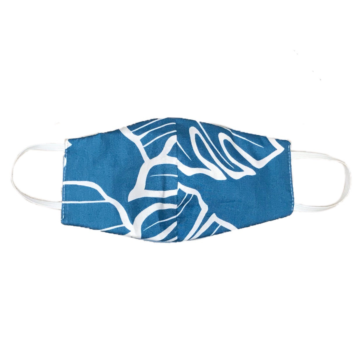 PROTECTIVE FACEMASK (MONSTERA x BABY BLUE with WHITE)