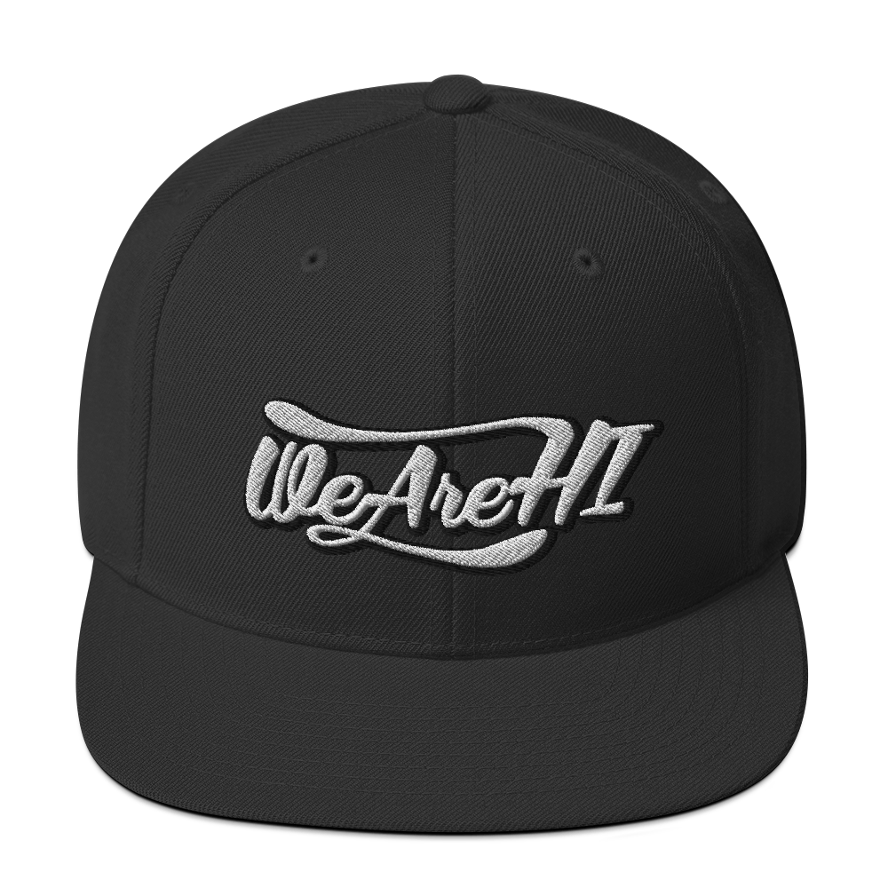 WeAreHI Original Logo Old School Snapback (Black)