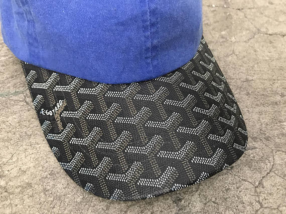 e0afdbebbf9 Blue Goyard Dad Hat Black Bill – SHOPAESTHETICS
