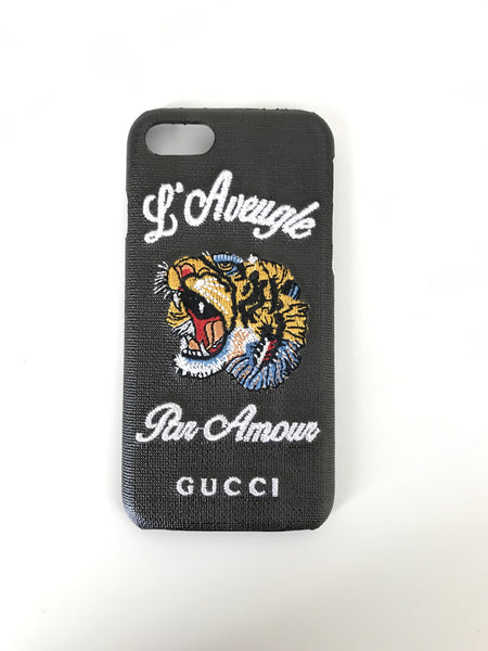 IPhone 7 Embroidered Tiger Case
