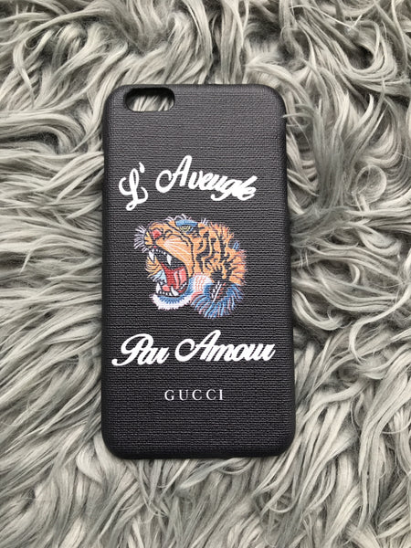 IPhone 6 PLUS Black Roaring a Tiger Case