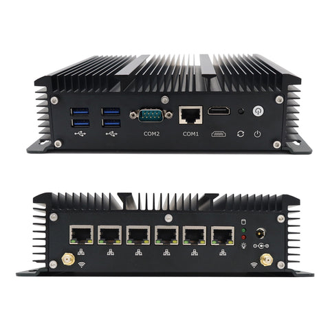 Mini PC Computer Intel Core i5 7267U 3.10GHz With 6 LAN Ports For Pfsense Router