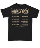 Electrician Hourly Rate Shirt - Unique On Demand