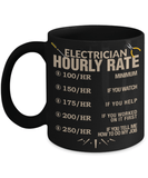 Electrician Hourly Rate Mug - Unique On Demand