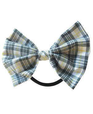 Checked bow hair band