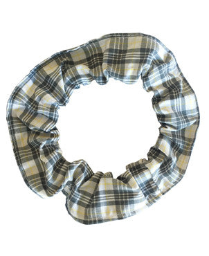 Checked bow hair scrunchie