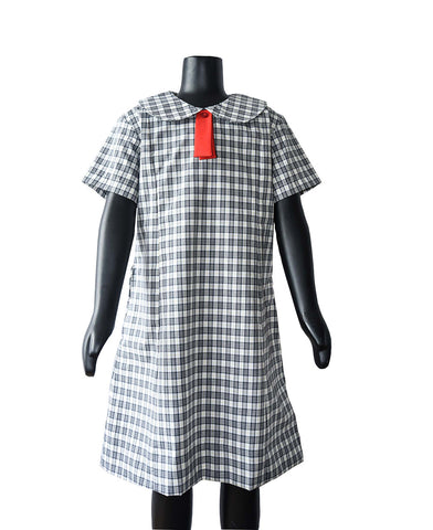 GIRLS Checked cotton tunic