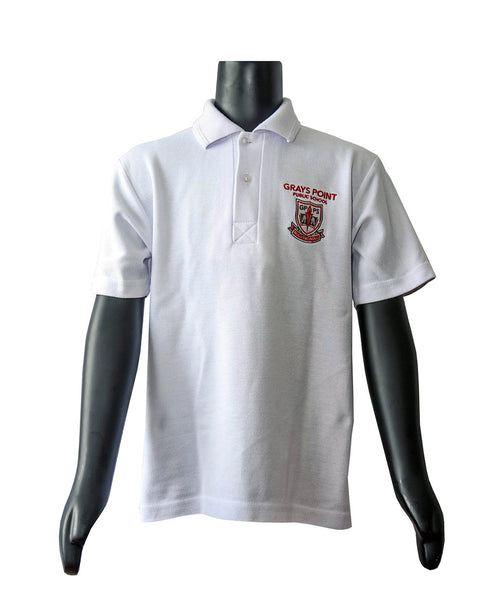 BOYS & GIRLS White polo top - short sleeve