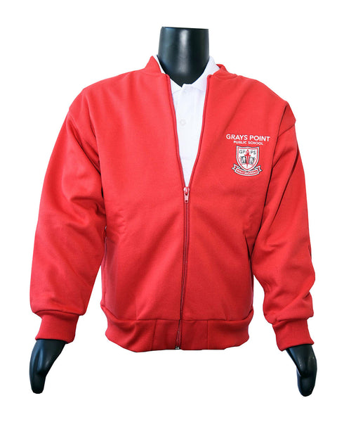 BOYS & GIRLS Red fleece zip jacket