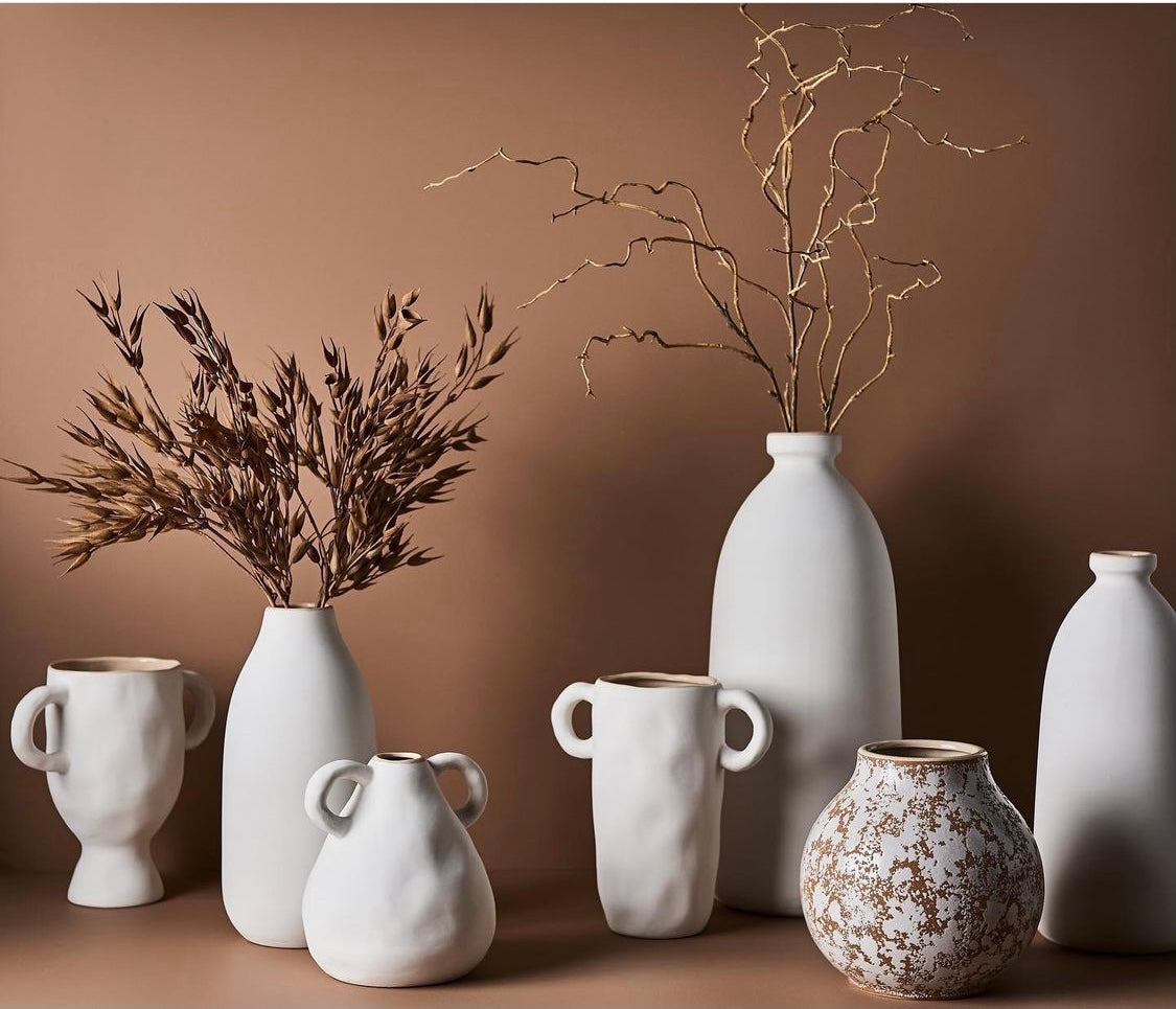 faux flowers and ceramics by sea tribe australia