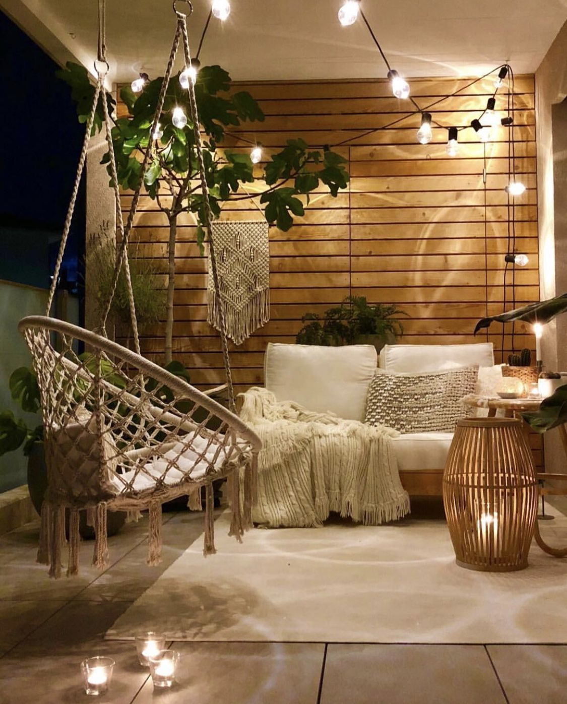 cosy outdoor living space