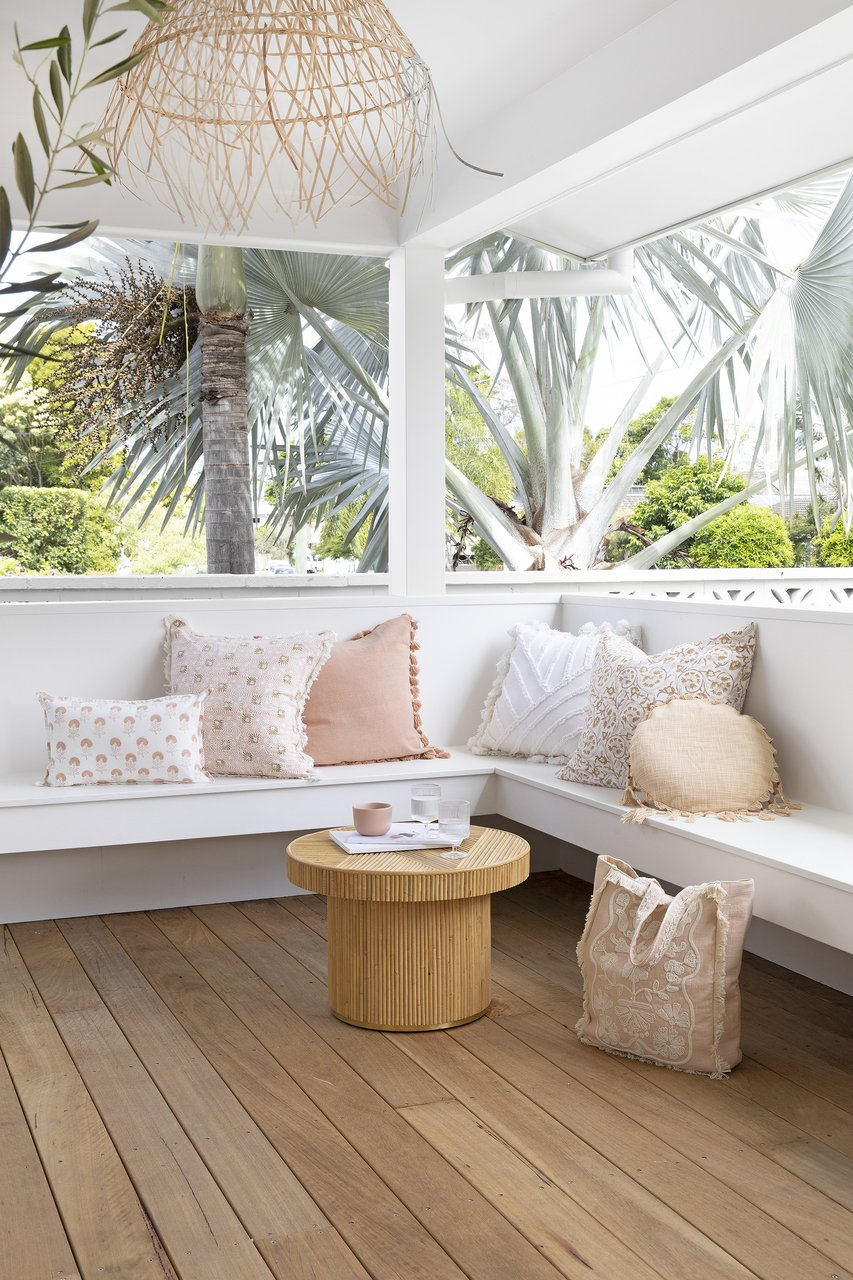outdoor living space cushions by sea tribe australia