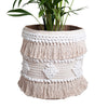 Avalon Boho Basket- White/Natural