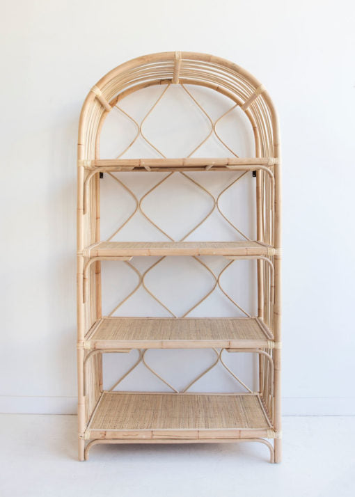 rattan cane shelves coastal bohemian shelf furniture